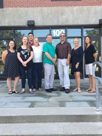 From left are Jaclyn LeRoy (Math/Moderate Disabilities); Caitlin Connor (Math/Moderate Disabilities); Peter Trenh (Science); Patricia Trahman (Nurse); John Milhaven (Biotechnology); David DeSantis (English/Special Education); Celeste Foley (Dental); and Lynnsey Shaughnessy (English/Moderate Disabilities/ESL). COURTESY PHOTO