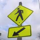 Pedestrian sign. PHOTO BY PATTY STOCKER