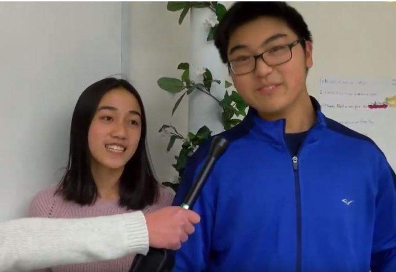 Westford Academy student officers for Latin Club, Helen Zhou and Yiwen Xiong. WESTFORDCAT PHOTO