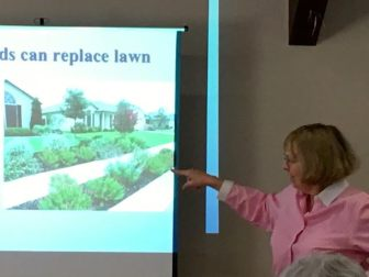 Master Gardner, Betty Sanders, encourages residents to grow plants in mulch rather than grass. COURTESY PHOTO