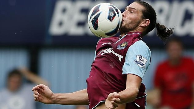 andy carroll debut for hammers