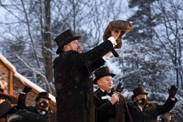 A gloomy Groundhog Day: Punxsutawney Phil says more winter