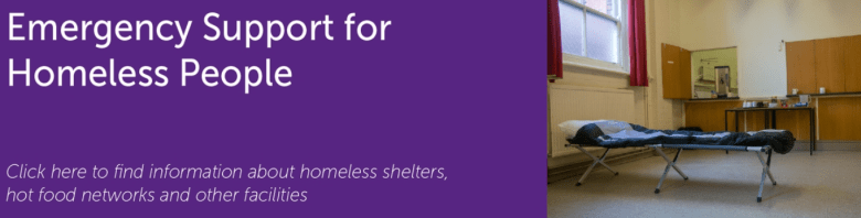 Find out which services are running to support homeless people