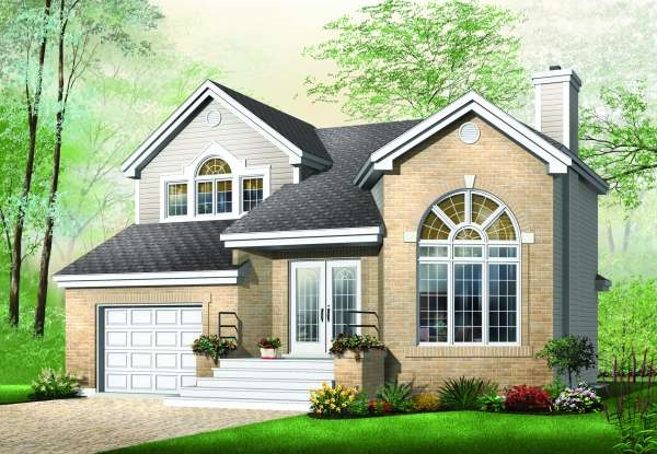 House Plans With Curved Staircases Page 1 At Westhome Planners   Double Staircase House Plans   12 Room   Mansion   Design   Small House   Bedroom