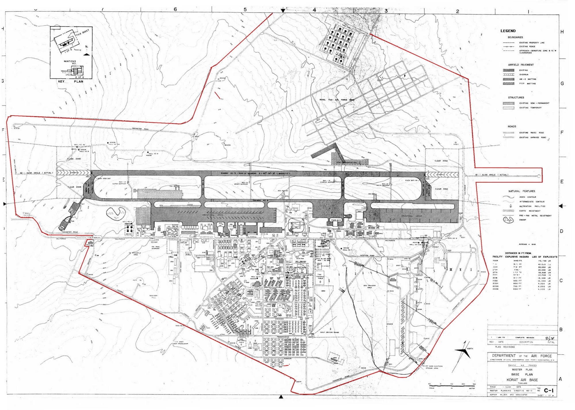 hight resolution of brett watterson sent me this map of korat rtafb which he highlighted the full perimeter