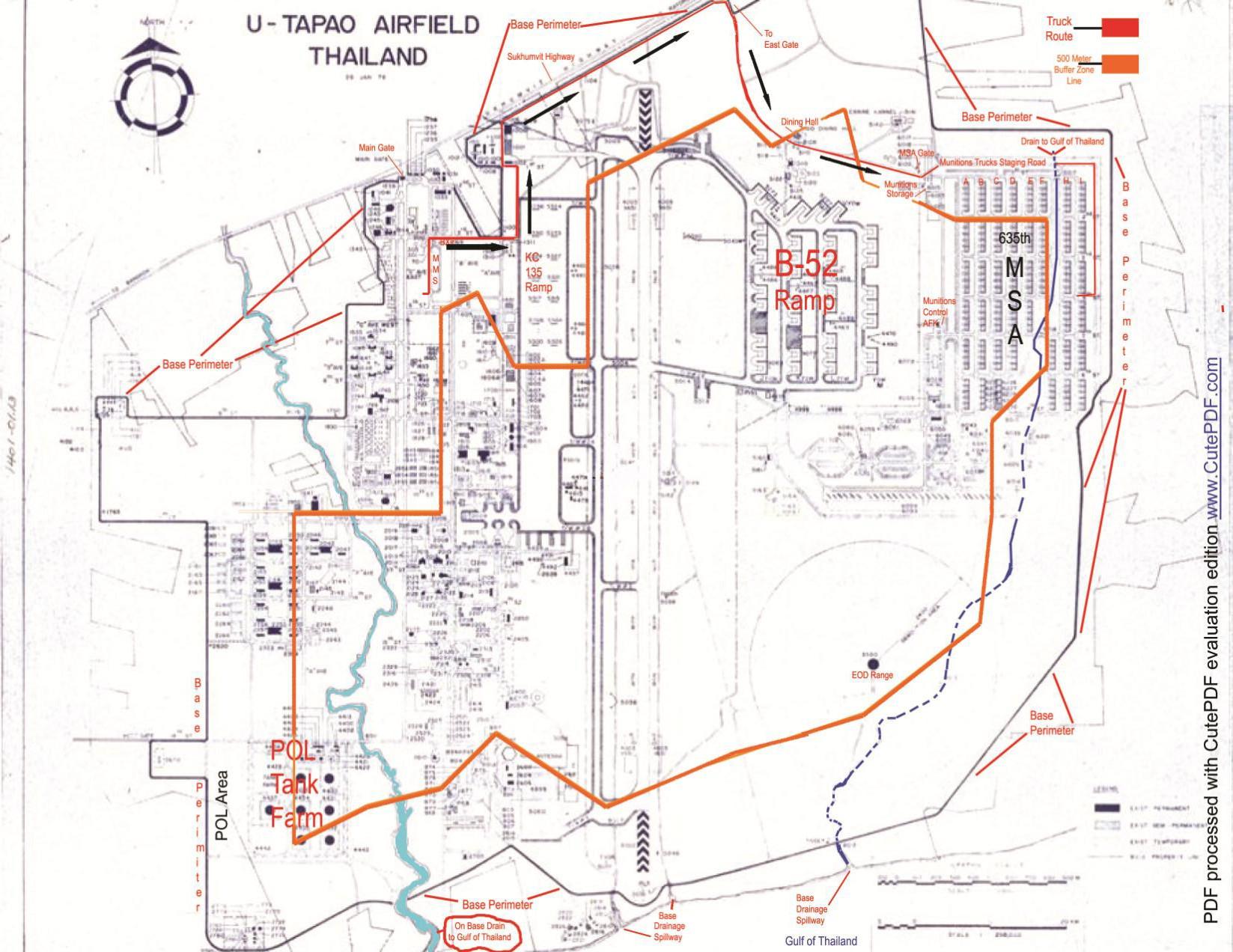 hight resolution of map of u tapao rtafb