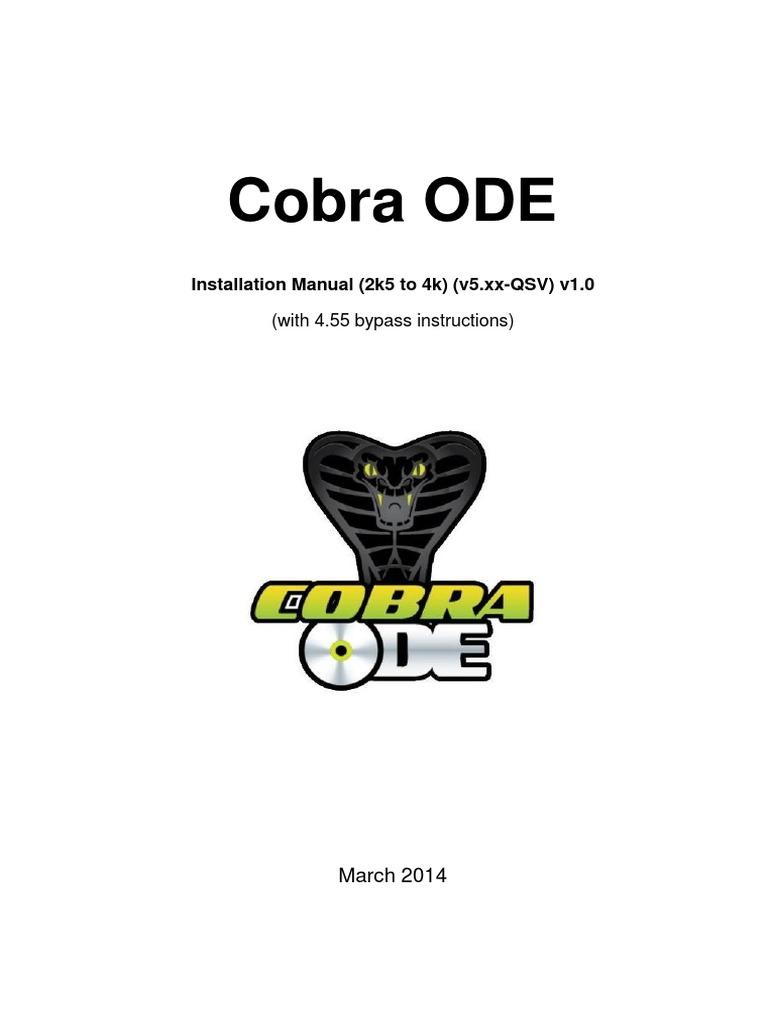Cobra ODE QSV V5.XX Installation Manual (2k5 to 4k) v1.0