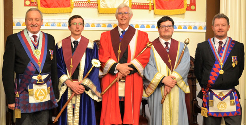 Pictured from left to right, are: Sam Robinson, Chris Bruffell, John Bruffell, Graham Edwards and David Kemp.