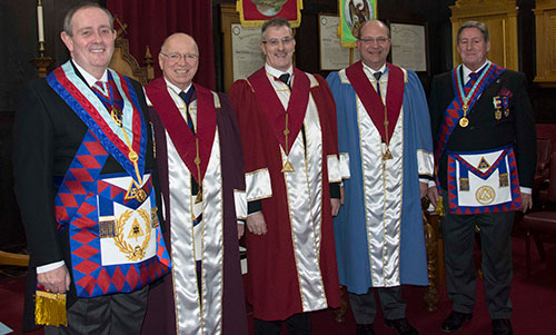 Pictured from left to right, are: Tony Hall, Peter Jackson, Craig Simpson, Stuart Bateson and Neil McGill.