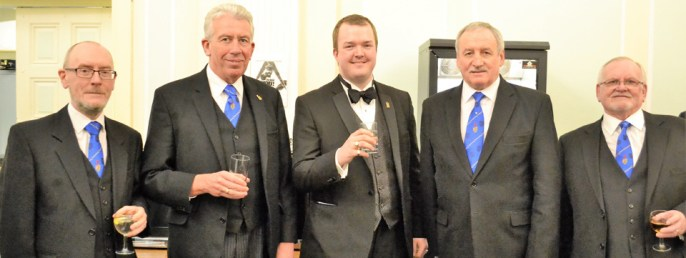 Pictured from left to right, are: Peter Fay, Mark Matthews, Stuart Kidd, Sam Robinson and John Lambert.