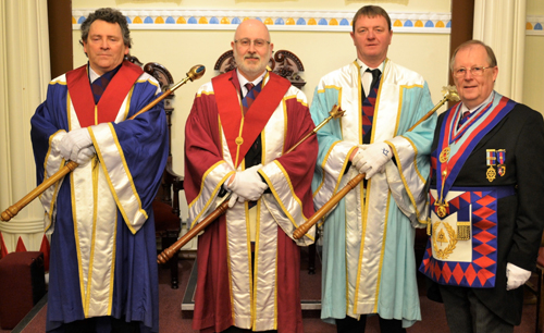Pictured from left to right, are: Arnie Neale, Tony Christy, Richard Bird and Colin Rowling.