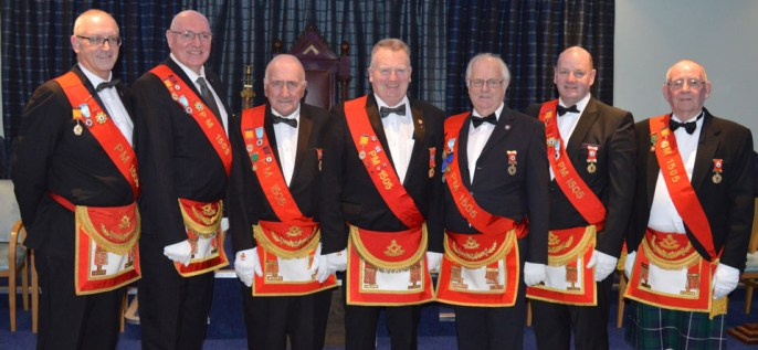 The members of Lodge Salfire bring a splash of colour to the Aegis installation