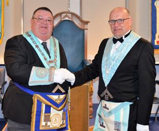 Carnforth Lodge installs Ian as master