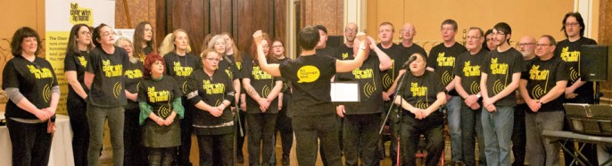 'The choir with no name' entertains the guests at the Lord Mayor's Ball.