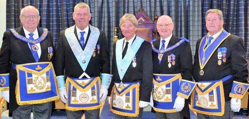 Pictured from left to right, are: Philip Gunning, John Eccles, Norman Guy, David Grainger and Neil McGill.