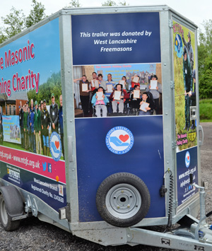 Pictured is the trailer, which has been donated by the WLFC to the West Lancashire branch of the Masonic Fishing Charity.
