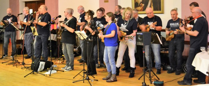 The 'D'ukes of Hazzard' perform.