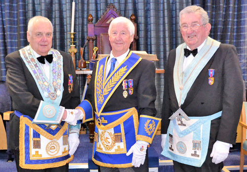 Pictured from left to right, are: Frank Hogarth, Jim Wilson and David Christopherson.