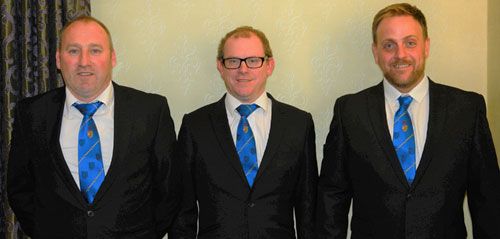 The talented trio, pictured left to right, are: Andy McClements, Adrian Walker and James Greer.