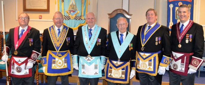 Pictured from left to right, are: James Stewart, Keith Kemp, Evan Beswick, Bill Manderson, Neil McGill and Chris Larder.