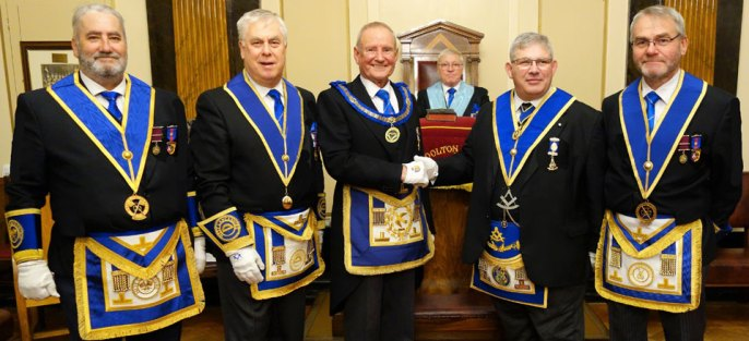 Pictured from left to right, are: George Christie, David Johnson, David Walmsley, Edward O'Hare, Robert Sawers and Barry Fletcher.