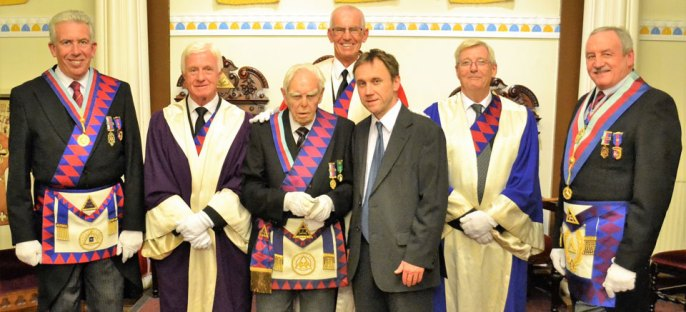 Pictured from left to right, are: Mark Matthews, Jim Molloy, Les Cairns, David Cairns, with Jeff Hodge standing behind, then Brian Hayes and Sam Robinson.
