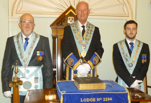 Pictured from left to right, are: Senior warden Steve Crane, Dave Colquhoun and junior warden Darren Crane.