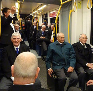 On route, by tram to Thornton and Cleveleys Lodge Centenary meeting.