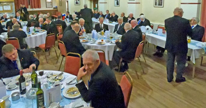 Brethren enjoying the festive board.