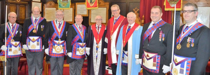 Pictured from left to right, are: Peter Pemberton, Andrew Bartlett, Phil Gardner, Colin Rowling, Brian Warrington, Ken Needham, Ray Griffiths, Scott Devine and Chris Larder.