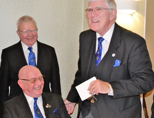 Sharing a bit of 'banter'. Pictured from left to right, are: David Grainger (front left) Keith Kemp and Tony Harrison.