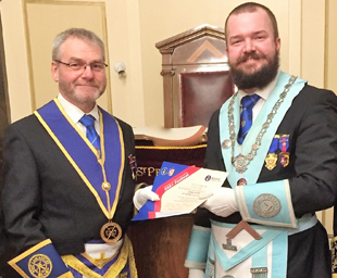St Peter's Lodge awarded two Grand Patron certificates