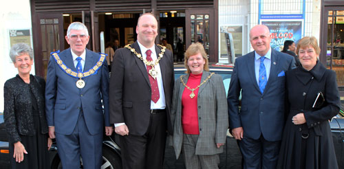 Pictured from left to right, are: Maureen and Tony Harrison, the Worshipful the Mayor of Blackpool, Councillor Gary Coleman and his wife Mayoress Councillor Debbie Coleman and David and Susan Winder.
