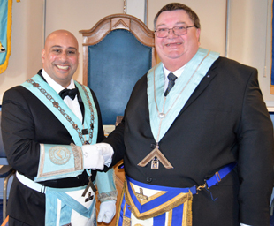 Matthew Kneale takes the chair of Carnforth Lodge