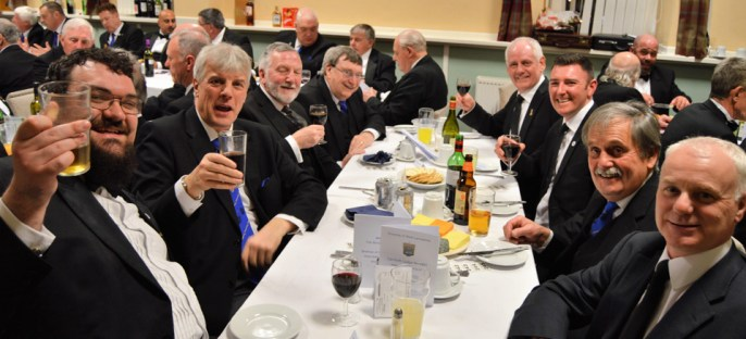 Enjoying the festive board.
