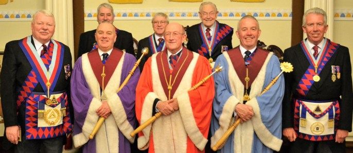 Pictured from left to right, are: (front row) Paul Shepherd, Gordon McConnell, John Doig, Geoff Green and Mark Matthews; (back row) George Christie, Edward O'Hare and Brian Pierpoint.