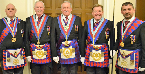 Pictured from left to right, are: David Atkinson, John Roberts, Sam Robinson, Kevin Poynton and David Thomas.