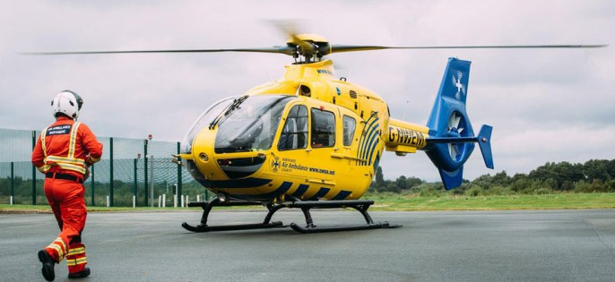 The North West Air Ambulance ready for action.