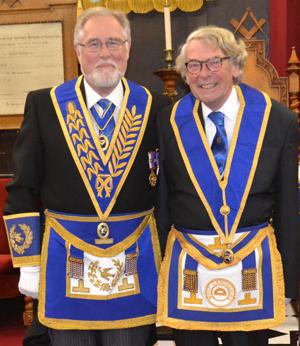 Bryan Milner (right) with Phil Gardner.
