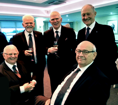 Time for a chat at Cumberland and Westmorland. Pictured from left to right, are: (standing) David Randerson, Tony Harrison and Barry Jameson (seated) Stewart Seddon and Phil Gunning.