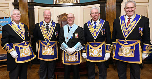 Pictured from left to right, are: John Murphy, Stephen Walls, Graham Robinson, Mark Matthews and Andrew Whittle.