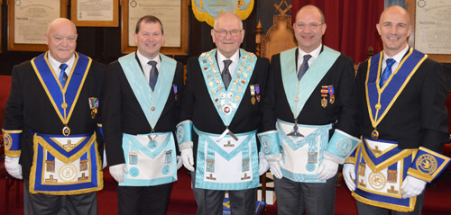 A family affair. Pictured from left to right, are: Malcolm Cambidge, Alan Bateson, Syd Bateson, Stuart Bateson and Bryan Cambidge.