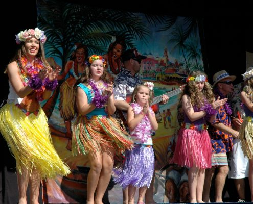 Hula girls Westlawn Goes to Hawaii Jacaranda Thursday 2013