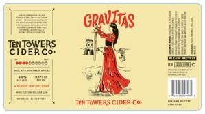 Custom Gravitas Label for Ten Towers Cider