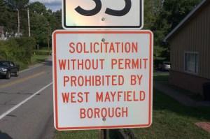 No Soliciting Sign_37th St Chippewa