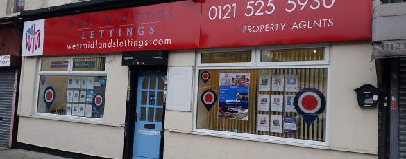West Midlands Lettings office outside