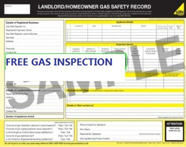 free gas inspection West Bomwich