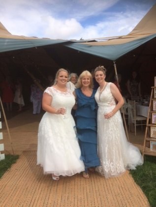 Gay wedding - Rebecca and Steph. Service conducted by Ruth Graham Independent Celebrant.