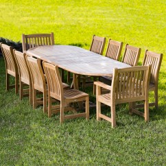 Outdoor Teak Chairs Chair Covers Rental Vancouver Furniture Dining Set For 8 To 10 Westminster