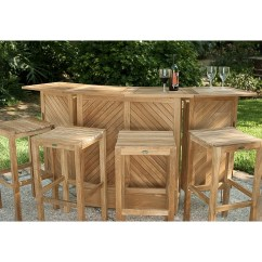 Teak Bar Table And Chairs Low Lounge Chair Backless Stool Set Westminster